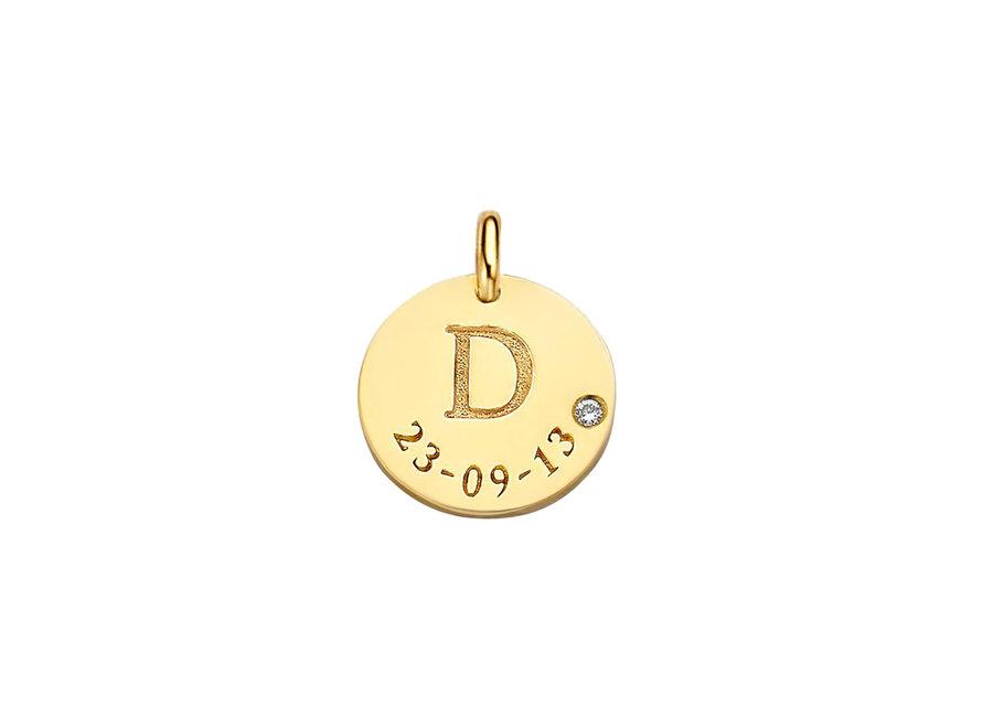 Coin Midi Diamond with Date