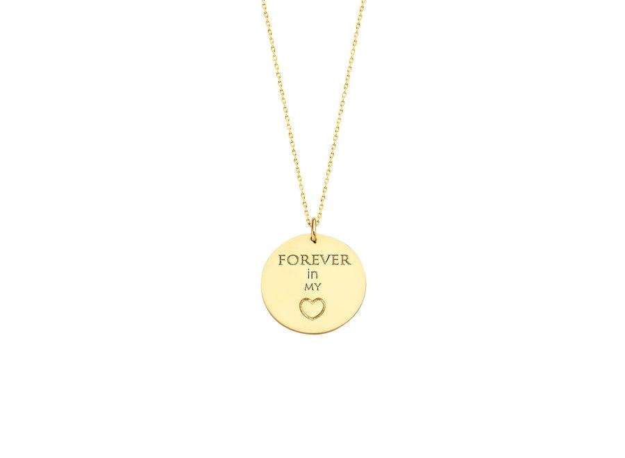Coin Necklace Maxi with Fingerprint & Engraving