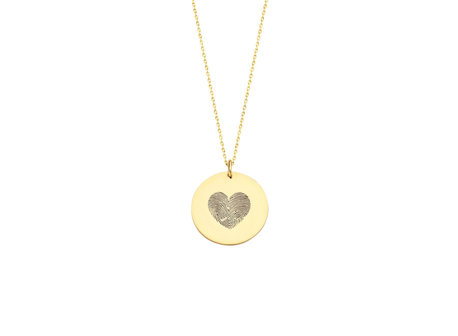 Coin Necklace Maxi with 2 Fingerprints