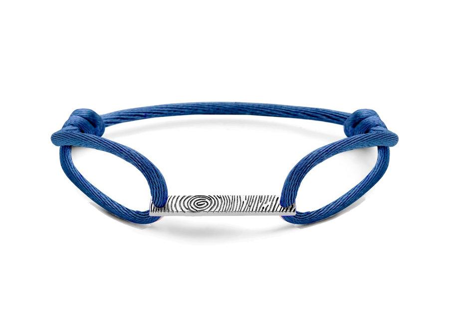 Bar Bracelet Cord with Fingerprint & Engraving Men