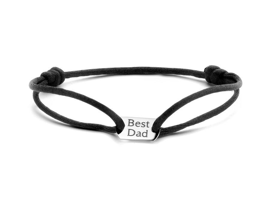 Tag Bracelet Small Cord Men