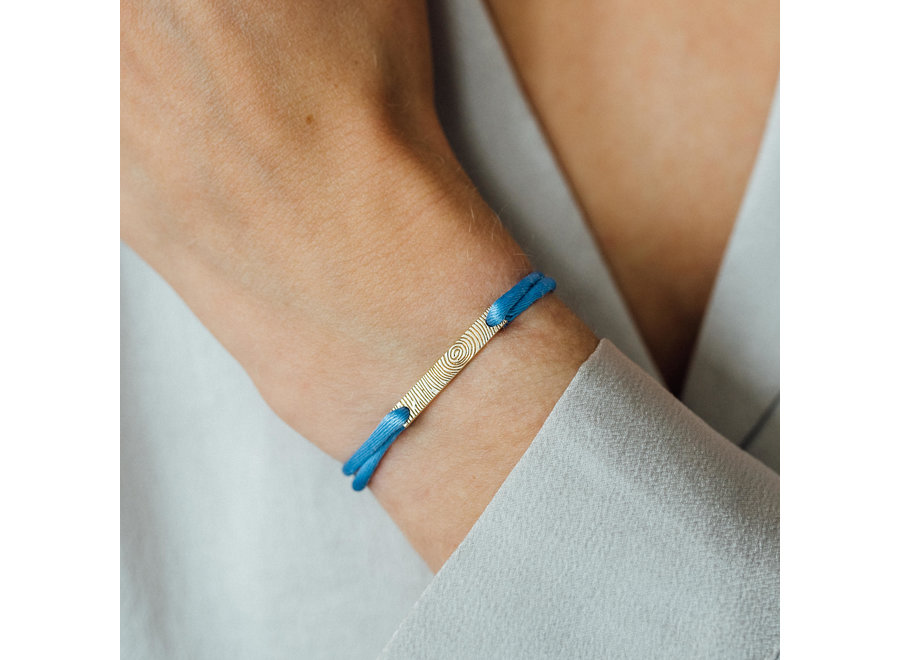 Bar Bracelet Cord with Fingerprint
