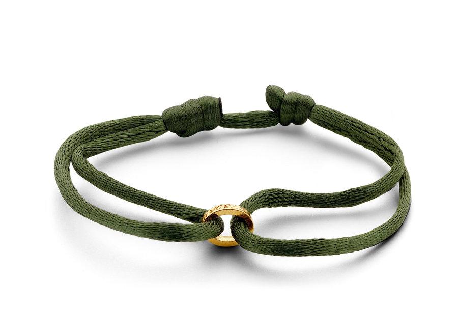 Single Open Circle Bracelet Cord with Engraving Men