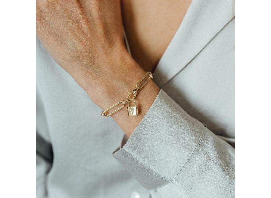 Charm Bracelet with Lock