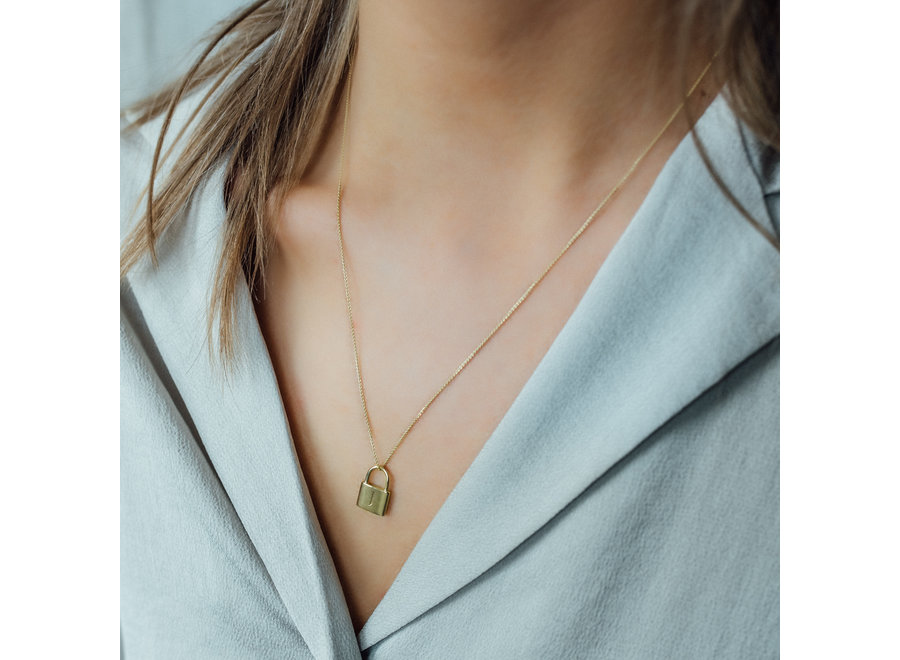 Charm Lock Necklace 50 cm