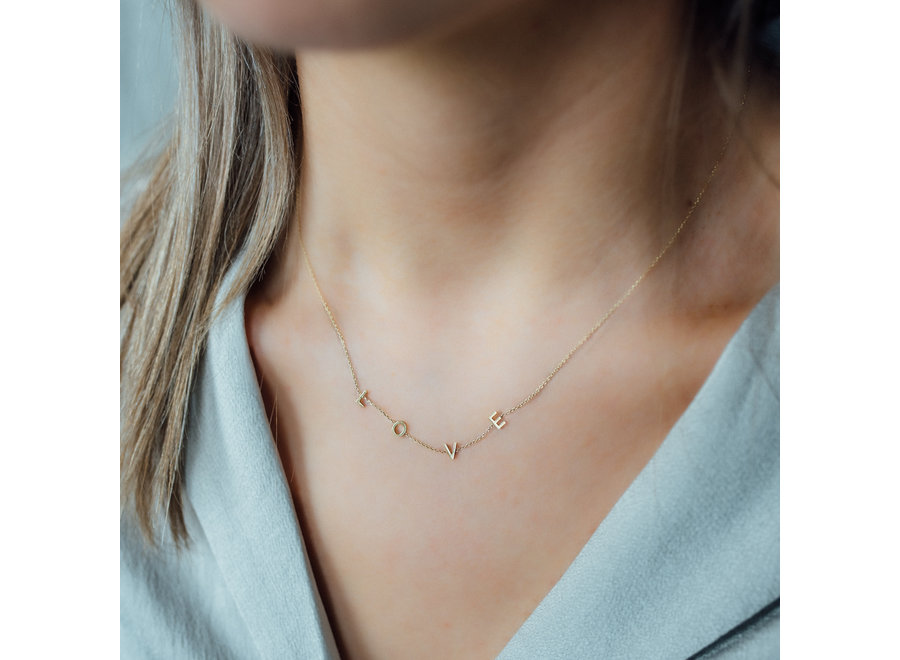 Love Letter Necklace 3 Initials