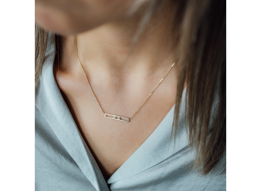 Love Bar Necklace 2 Letters