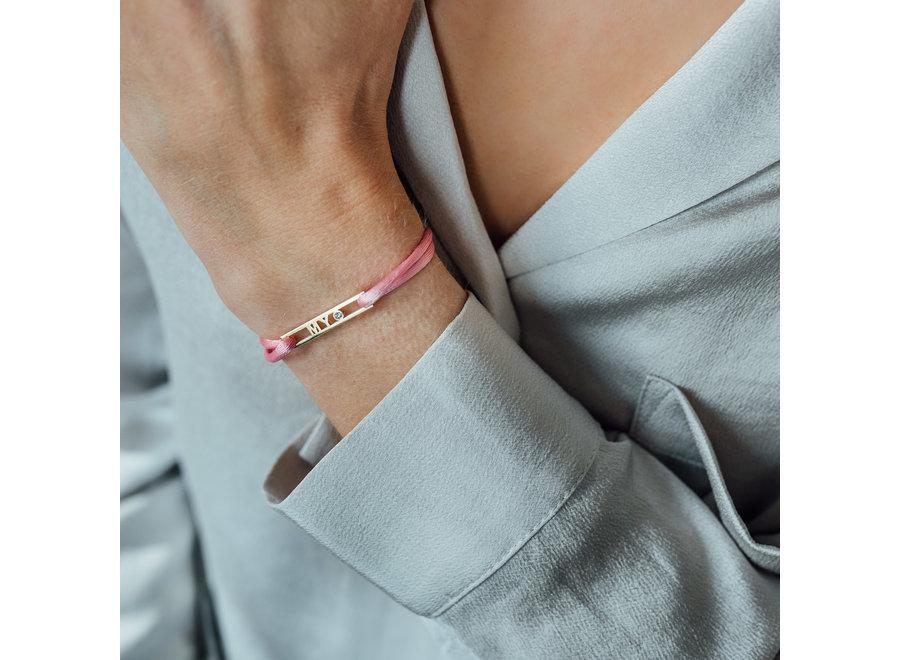Love Bar Bracelet 1 Letter