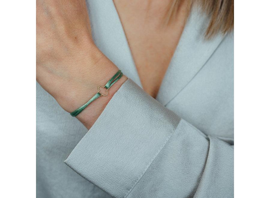 Vintage Bracelet Clover Cord