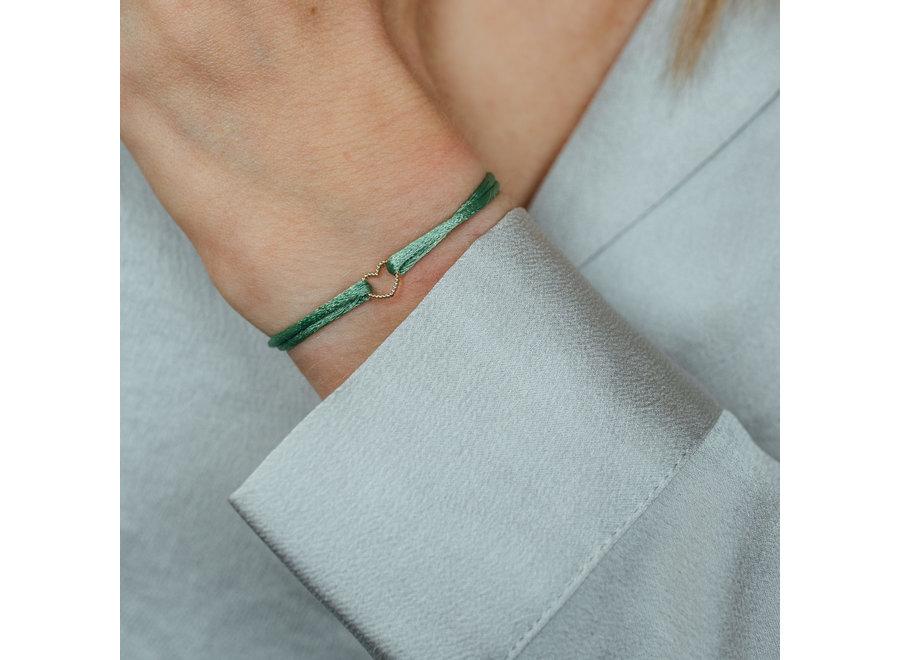 Vintage Bracelet Heart Cord
