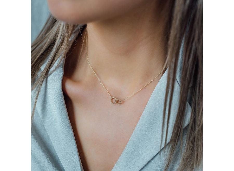 Vintage necklace Double Open Circle