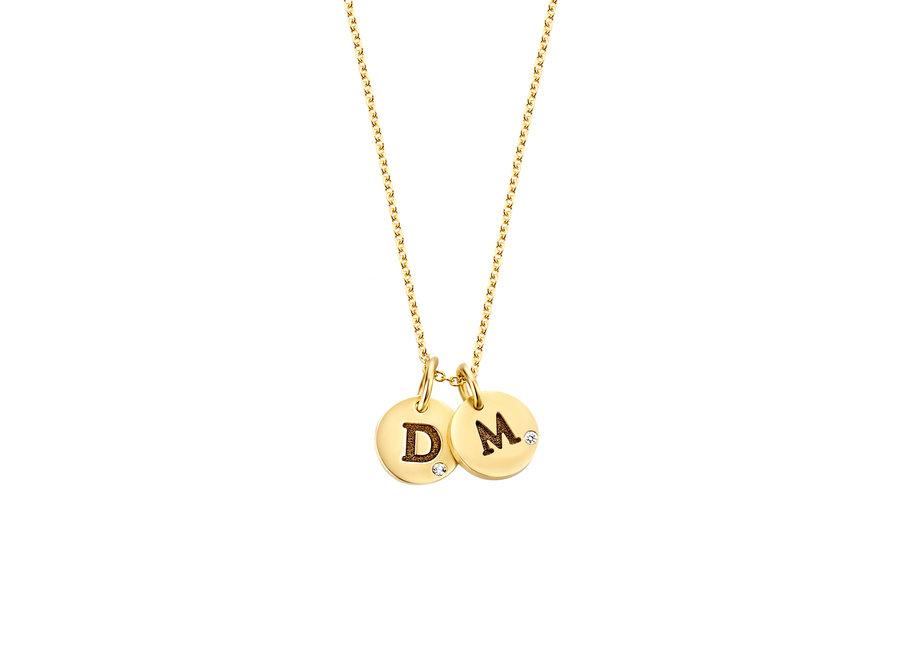 Coin Necklace Mini 2 Diamond Coins