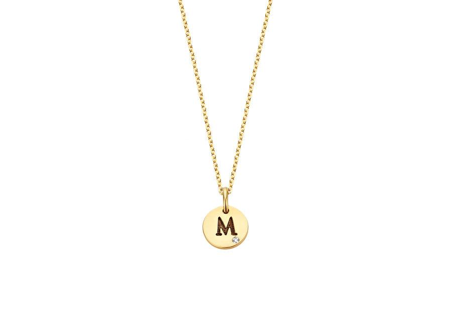 Coin Necklace 1 Mini Diamond Coin