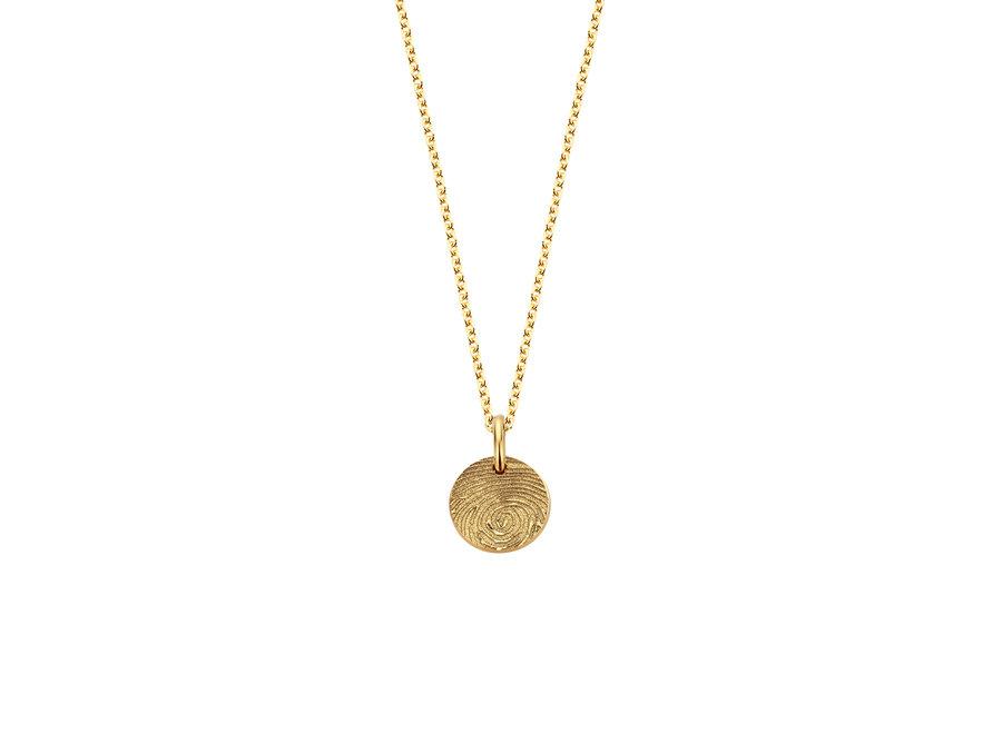 Coin Necklace Mini 1 Coin Fingerprint