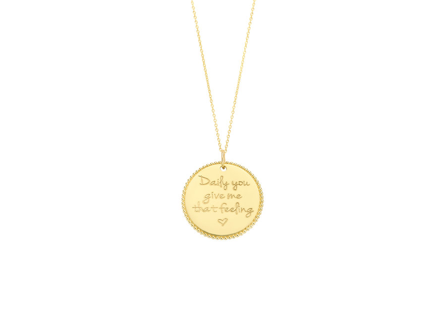 Vintage Necklace Coin Big