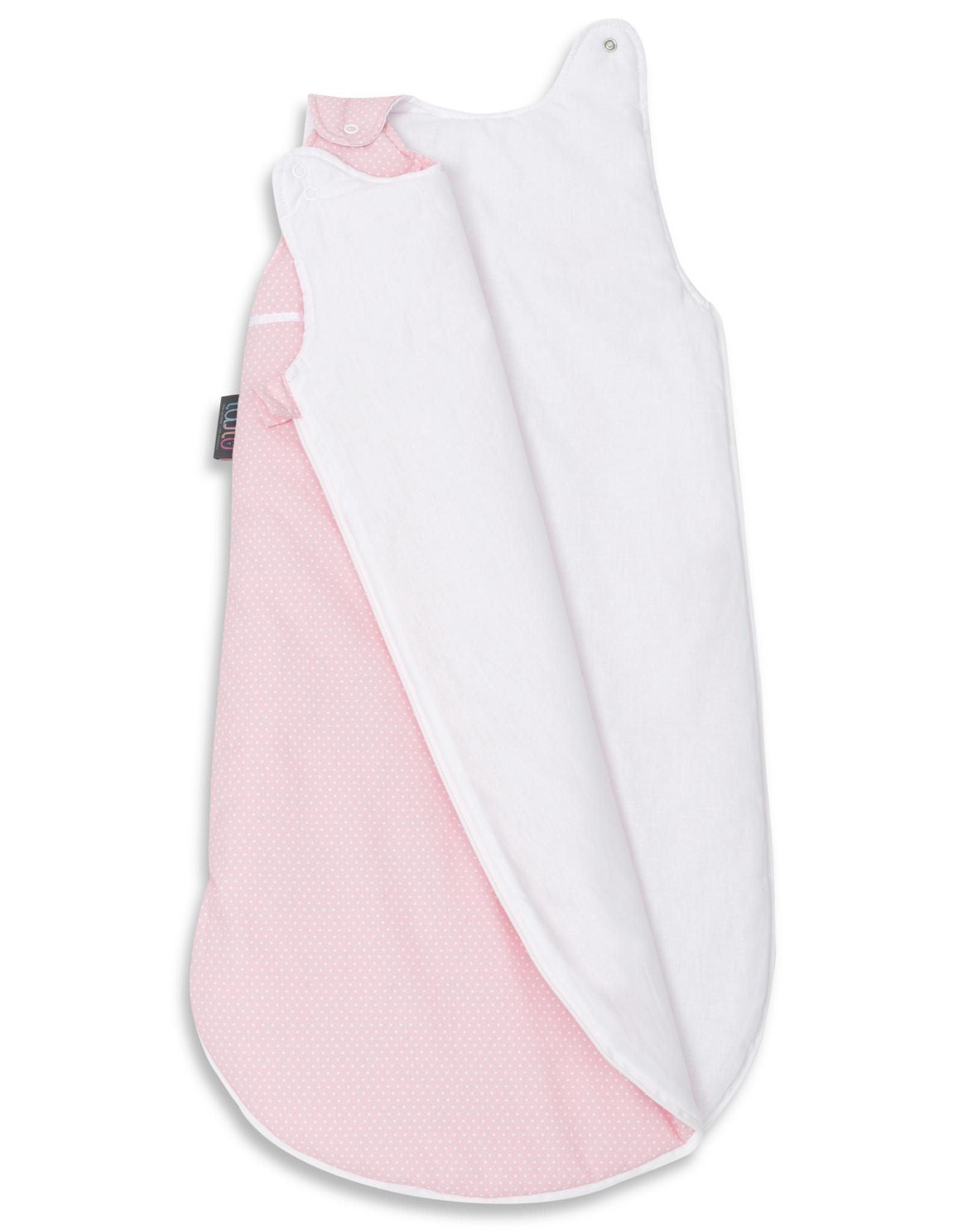 Slaapzak - Roze met witte stippen