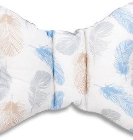 Hoofdkussen - Blauwe veren