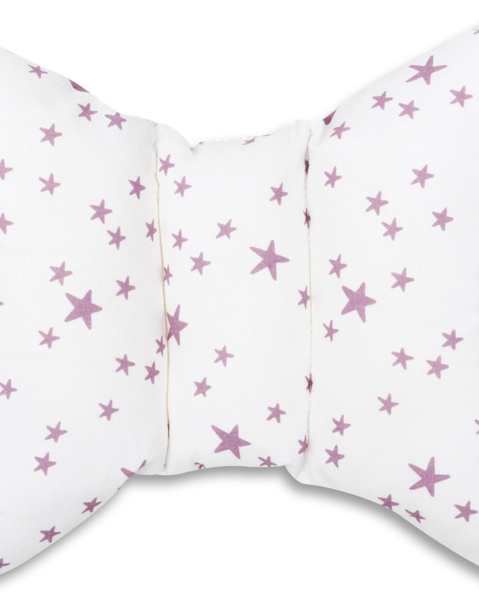 Hoofdkussen - Lila en roze sterren
