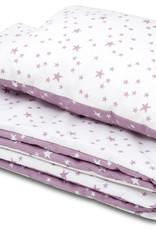 Deken set - Lila en paarse sterren