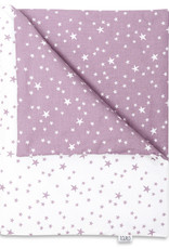 Deken set newborn - Lila en paarse sterren