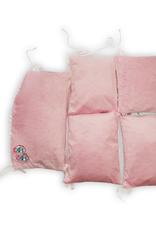 Bumpers 5 elementen - Roze / Wit met witte pompons