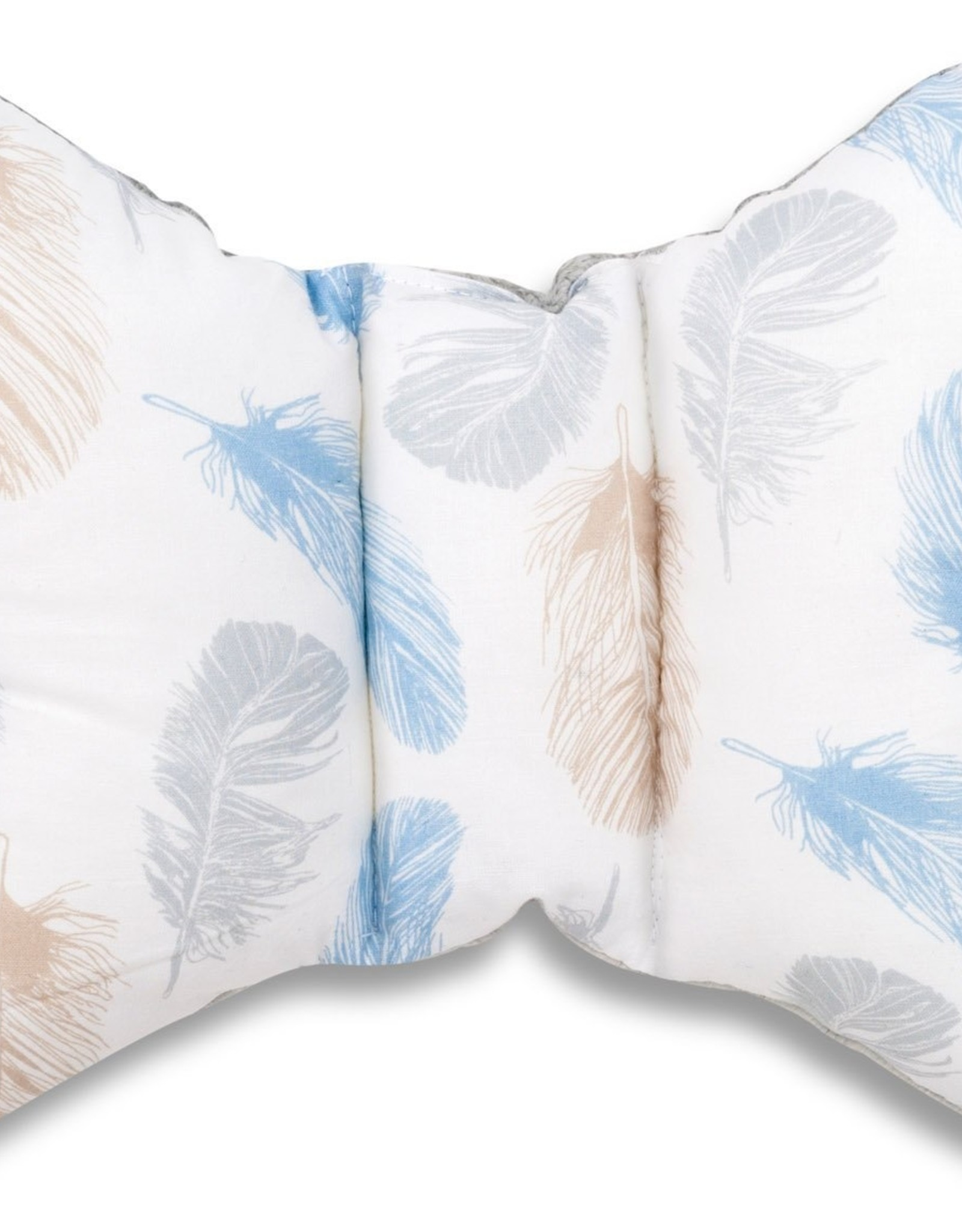 Hoofdkussen - Turquoise veren