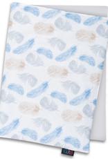 Deken set newborn - Blauwe veren