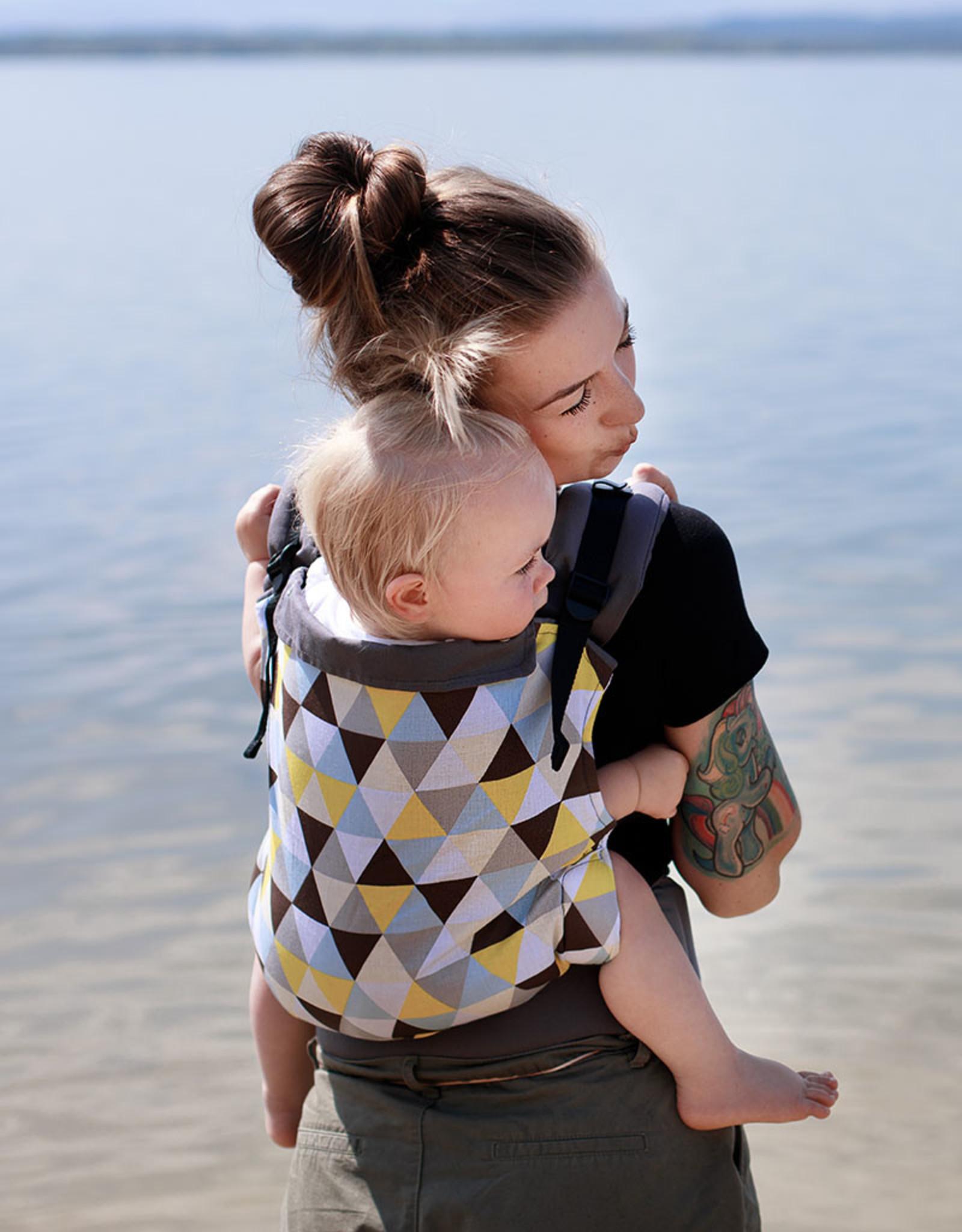 Kinderhop Baby Draagzak basic gele driehoekjes