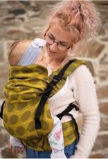 Kinderhop Baby Draagzak Multi Grow  Yellow dots