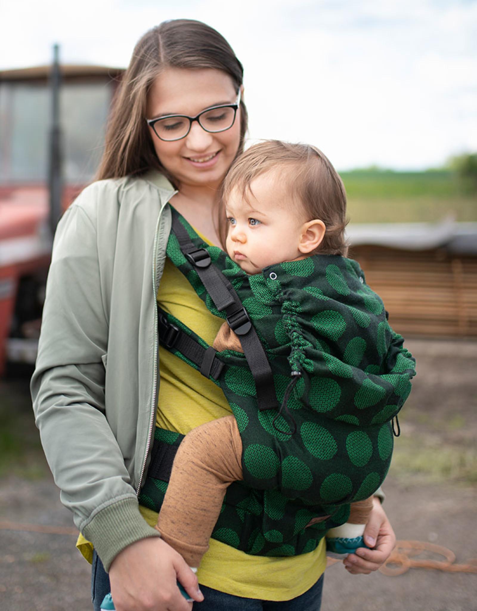 Kinderhop Baby Draagzak Multi Grow  Dots Green