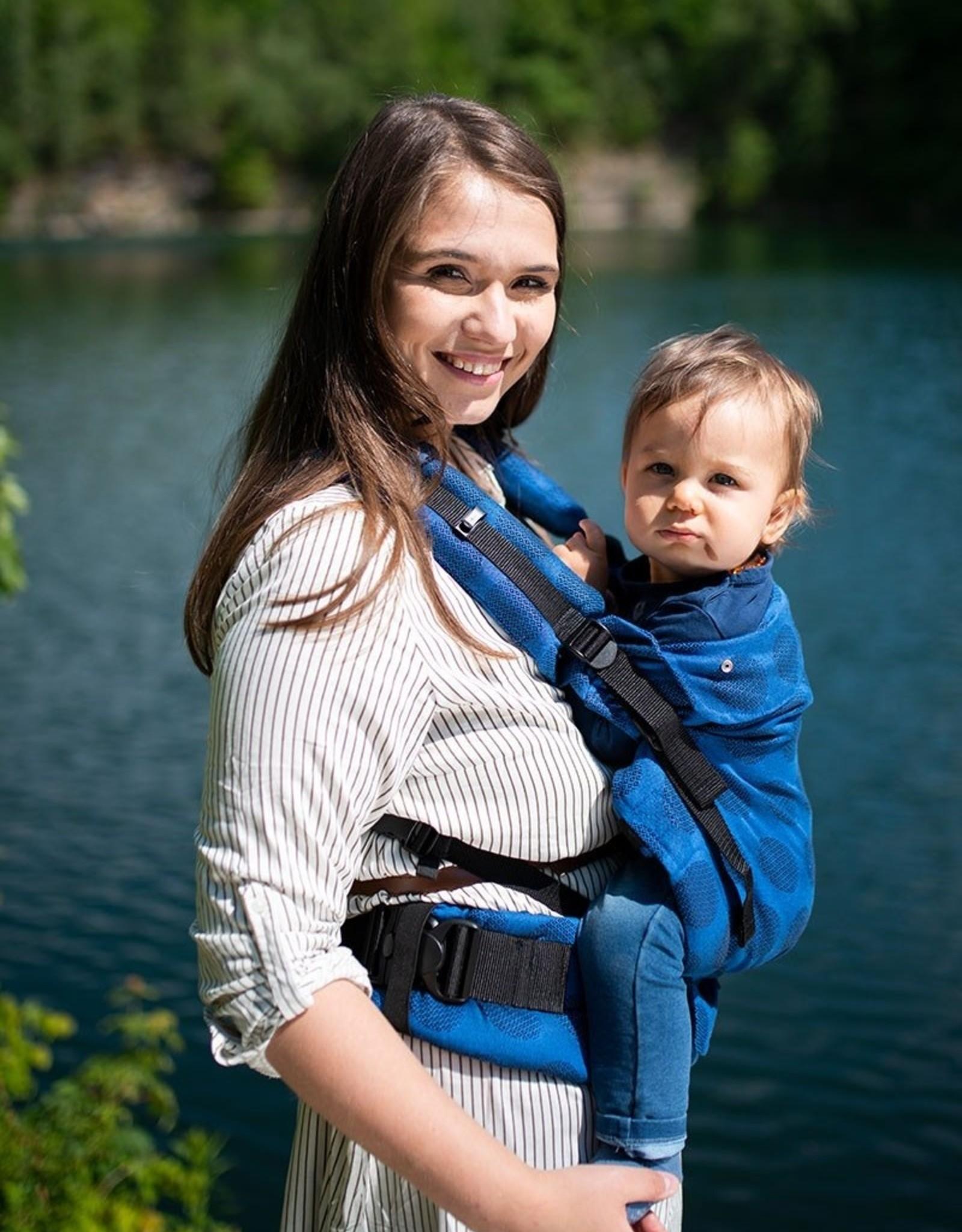 Kinderhop Baby Draagzak Multi Grow  Dots Blue