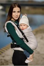 Kinderhop Baby Draagzak Multi Grow  Little Herringbone Ecru