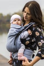 Kinderhop Baby Draagzak Multi Grow  Little Herringbone Blue