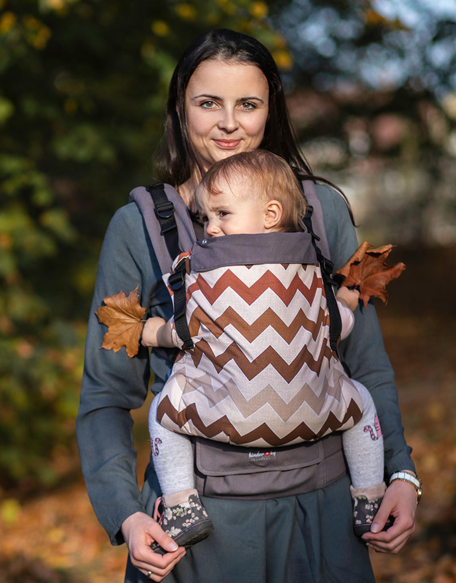 Kinderhop Baby Draagzak Multi Grow  Brown ZigZag