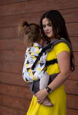 Kinderhop Baby Draagzak Multi Grow  Yellow Triangles