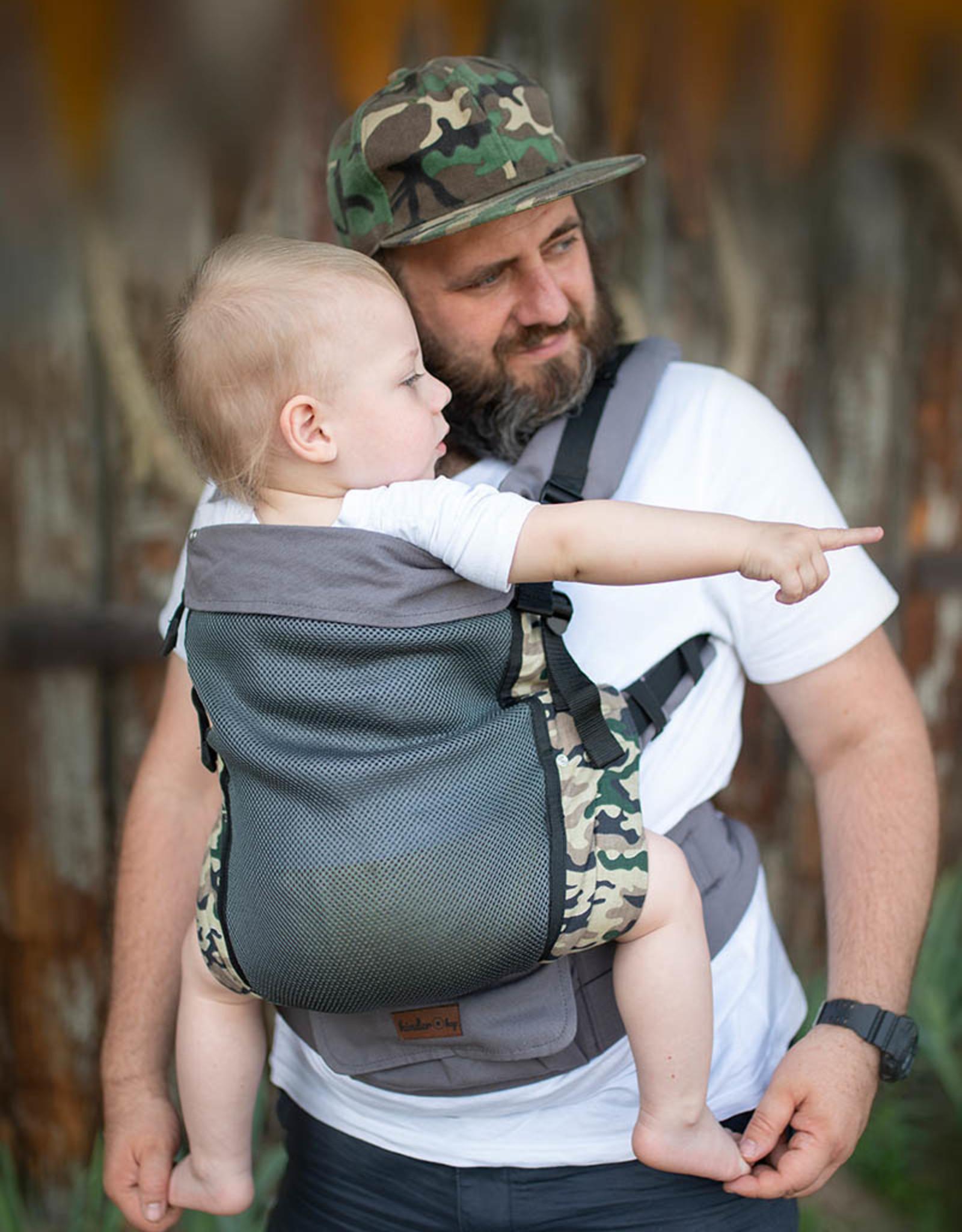 Kinderhop Baby Draagzak Grow Air Army
