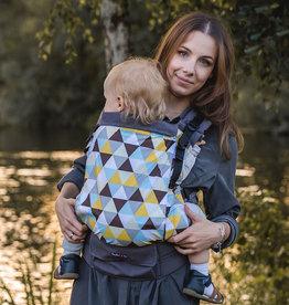 Kinderhop Baby Draagzak Grow Air Yellow Triangles