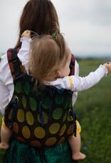 Kinderhop Baby Draagzak Multi Soft Dots Rainbow