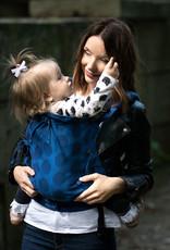 Kinderhop Baby Draagzak Multi Soft Dots Blue