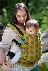 Kinderhop Baby Draagzak Multi Soft Dots Yellow