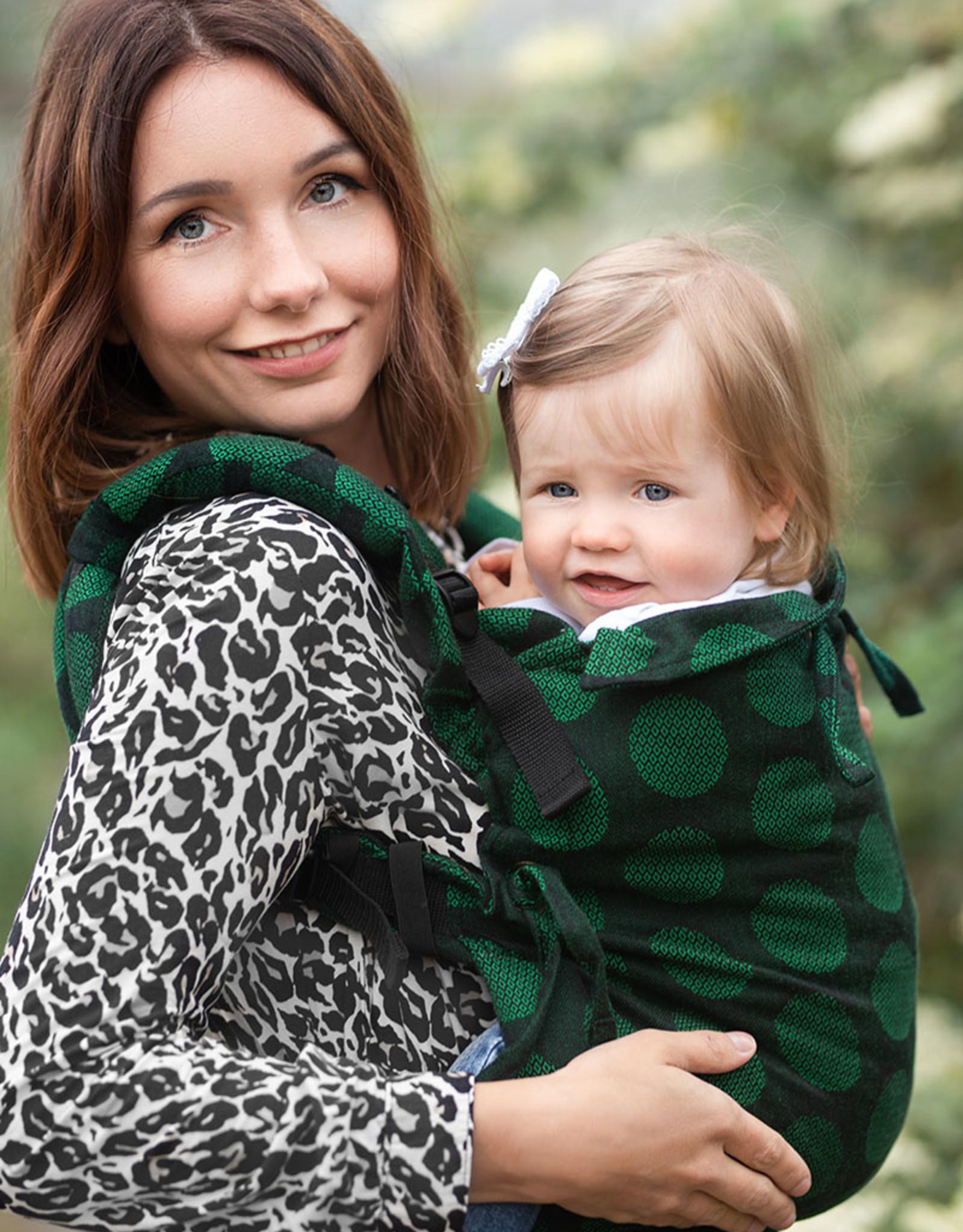 Kinderhop Baby Draagzak Multi Soft Dots Green