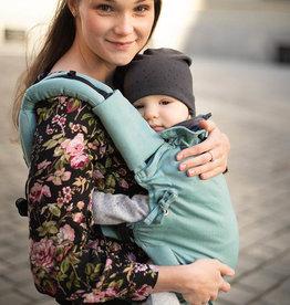 Kinderhop Baby Draagzak Multi Soft Little Herringbone Turquoise