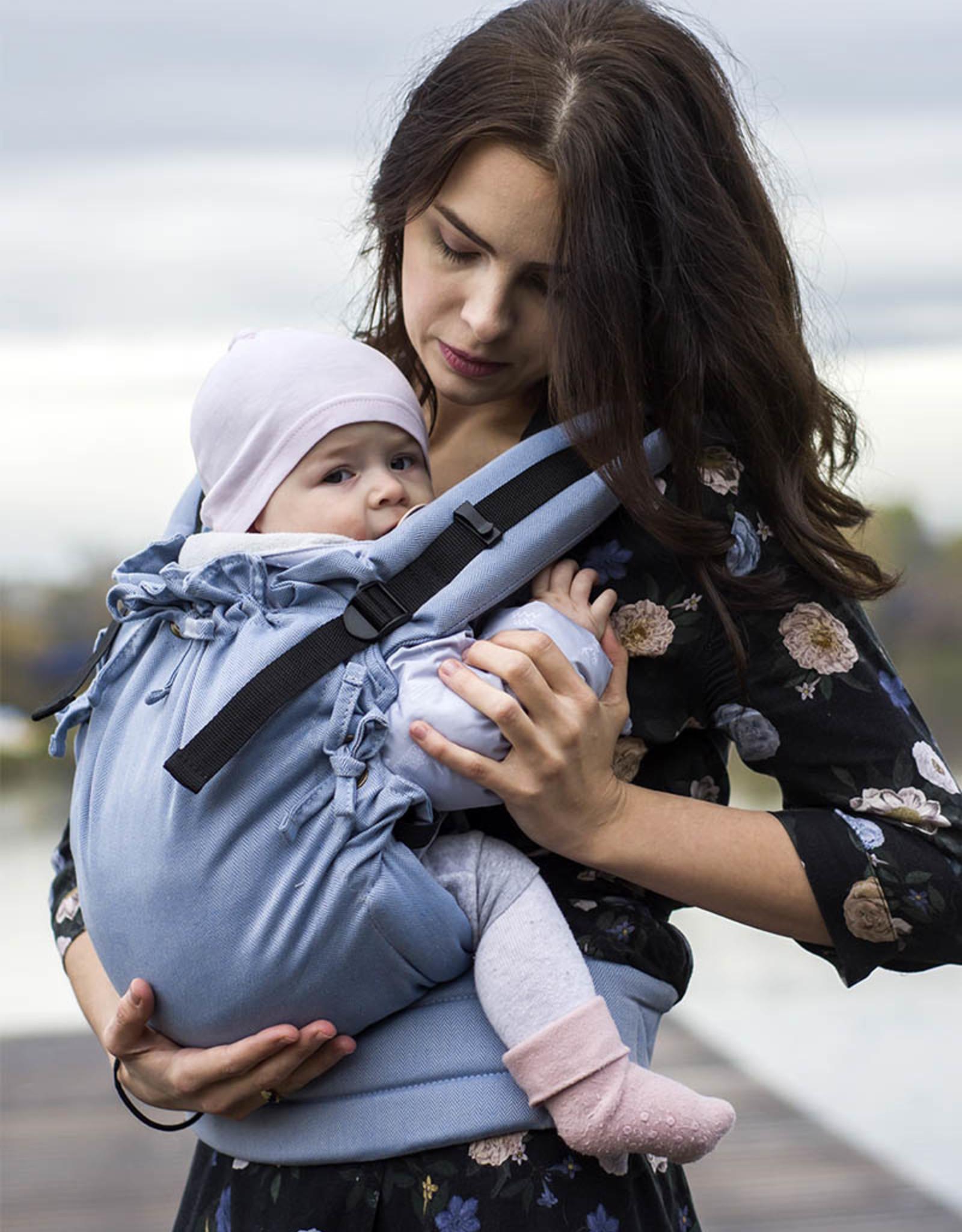 Kinderhop Baby Draagzak Multi Soft Little Herringbone Blue