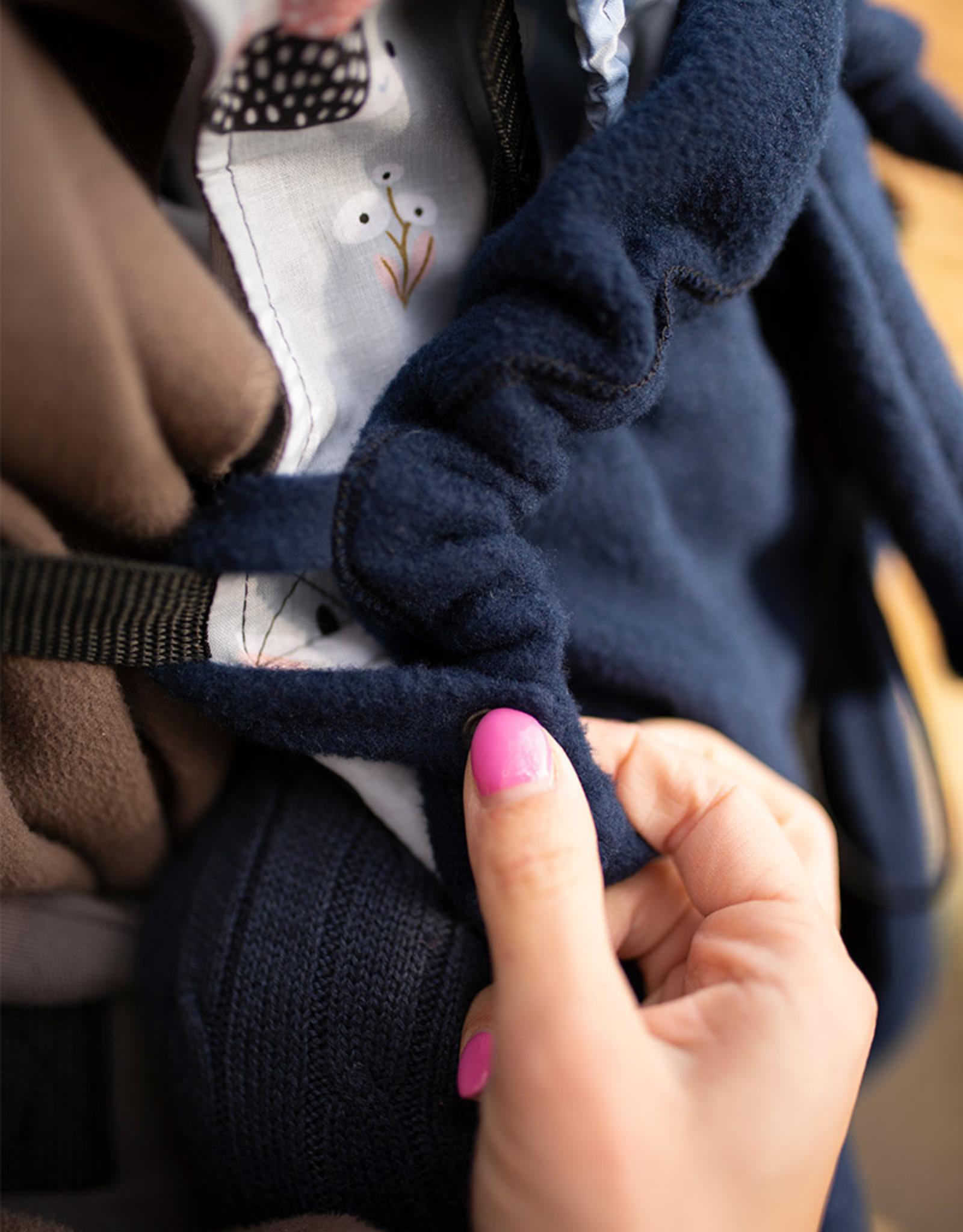 Kinderhop Pluche hoes voor draagzakken en draagdoeken Blue