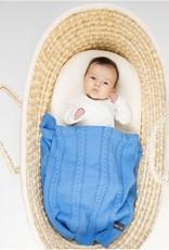 Babydeken Junior 90 X 65 Cm Katoen Blauw