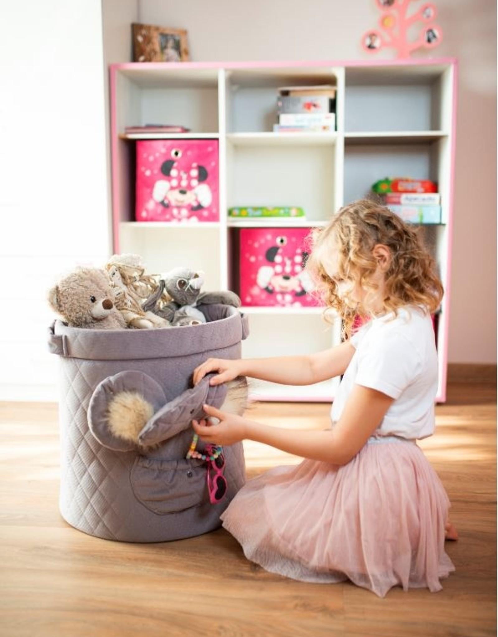 Kinderhop Speelgoedmandje - Opbergbox bruin