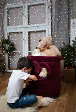 Kinderhop Speelgoedmandje - Opbergbox kers