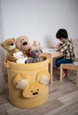 Kinderhop Speelgoedmandje - Opbergbox geel