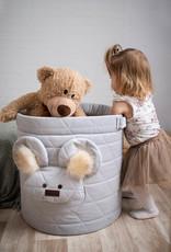 Kinderhop Speelgoedmandje - Opbergbox  grijs