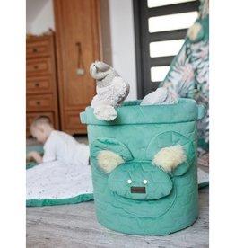 Kinderhop Speelgoedmandje - Opbergbox groen